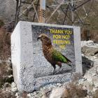 This sign, which was designed to improve kea numbers in Arthur's Pass, is now missing.