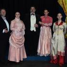 The cast (from left, Rob Stewart, Warren Chambers, Emily Atkinson, Craig Storey, Mel McCosh,...