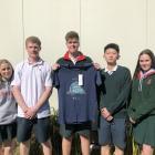 Lincoln High School students Danielle McKendry, Daniel Blaikie, Matthew Bowen, James Shi, and...