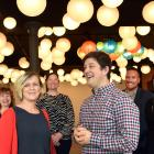 Petridish shared workspace founders Kate and Jason Lindsey (foreground) with visiting Labour MPs ...