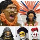 Some of the life-sized African and Samurai models created by Dunedin artist Frank Varsanyi that...