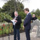 IMG: 4581: Fiordland RSA President Geoff Trumper and Te Anau Chaplain Rev Craig Allan leading the...