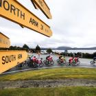 The Tour of Southland field travels through Manapouri on the way to the stage finish in Te Anau...