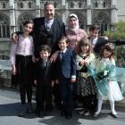 Mouhannad Taha and Lina Alhaj Shahin with their children (from left) Zenah (12), Ahmad (4), Faek ...