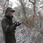 Doc Fiordland kiwi ranger Tim Raemaekers tracks adult tokoeka kiwis to their nests. PHOTO: PETA...
