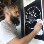 Ode Conscious Dining head chef and owner Lucas Parkinson prepares to reopen today after fire...