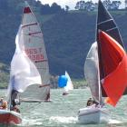 Eventual winner Alex Bruce (left) in action during the weekend's racing at the South Island...