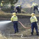 A grass fire was quickly put out by fast working emergency services. PHOTO: SIMON HENDERSON