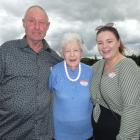 Doreen Noone, of Timaru, joins her son David Noone and grand-daughter Molly Noone at the McKnight...