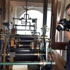 Calvin Blyde, of Tauranga, prepares to take digital images inside the Dunedin Municipal Chambers...