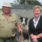 Dog trials have taken Mark and Robyn Copland (pictured with dog Deb) to many rural locations....