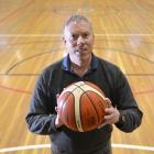 New Basketball Otago general manager Peter Drew takes a break from work on court at the Edgar...