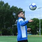 Southern United's Abdulla Al-Kalisy takes a break at Logan Park Turf yesterday before tonight's...