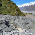A moraine washout at Husky Stream, Tasman Valley. Photo: Supplied / Department of Conservation