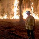 Dunedin Central Senior Firefighter Geoff Powell at the scene of a bushfire in New South Wales...