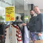 Thiago Sa (left) and Nathan Hughes were  among the customers who enjoyed Boxing Day sales in...