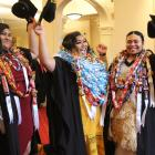 Hundreds of Southern Institute of Technology students celebrate their graduation yesterday,...