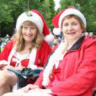 Locals Yvonne Gawn (left) and Jenny Fraser dress the part for Christmas in the Park. PHOTOS:...