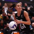 Maria Folau in action for the Silver Ferns last night against the All Stars. Photo: Getty Images