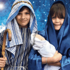 Louis Fyfe (11) and Mary-Jane Sanson (11) in nativity play costume at St Joseph's Cathedral...
