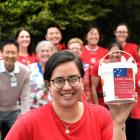Southern District Health Board radiation therapist Sara Kokaua and her red-clad colleagues, who...