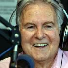 Neil Collins does his final broadcast for Radio Dunedin in 2015. Photos: ODT Files