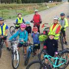 Cycling the  Otago Central Rail Trail, on their way to have their petition heard at yesterday's...