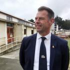 Waitaki Boys' High School rector Darryl Paterson outside the school's former science block which...
