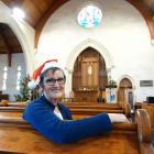 The Rev Rose Luxford, of St Paul's Presbyterian Church in Oamaru, says playing Christmas tunes...