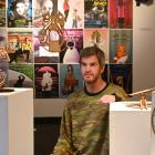 Otago Polytechnic School of Design senior lecturer Morgan Oliver with a display of his students'...