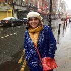 Former Alexandra woman Sarah Vilela da Silva walks through Dublin as it starts to snow. PHOTO:...