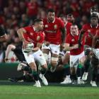 Halfback Rhys Webb on the run for the British and Irish Lions during their 2017 tour to New...