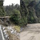This section of Mt Hercules (SH6) is now fully reformed (right) after a 'drop-out' a fortnight...