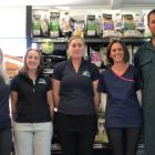 Rebecca and Dan Fleming (second from right and far right ) and their team at Vetcare Kaikoura....