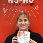 New Zealand Post customer services team leader Nicki Templeton is searching for the owner of this...