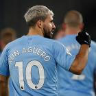 Manchester City's Sergio Aguero gestures after the match. Photo: Reuters