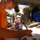 Thomas Smale (10), of Lauder, tries his luck at guessing how many jellybeans are in the jar at...