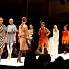 "Daphne Randle's ""Radiation"" (left) parades the catwalk with other category winners at the 2013..."
