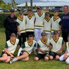 The Mid Canterbury Cricket primary rep team, back row, coach Kath Clark, Bailey Fletcher, Jack...