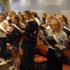 Seniors practising at Monday afternoon's Mid Canterbury Summer Singing School session.