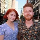 Isla and Finley Brentwood in Melbourne's CBD last month. Photo: Mountain Scene