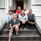 A group of Chinese workers who came to New Zealand after being promised work. Photo: RNZ/Claire...