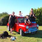 Southland dairy farmers Jess and Don Moore with kids Violet, Harry and Lachie. PHOTO: SUPPLIED