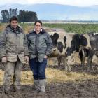 Ben Walling and Sarah Flintoft, who had 1700 cattle culled in 2018. Photo: Gerard O'Brien