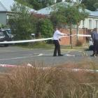 Police at the scene in Forbes St, Sydenham. Photo: NZH Amber Allott
