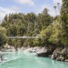 It is believed the man fell from rocks while preparing to jump into the water at the Hokitika...