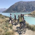 Cycling alongside picturesque Lake Ohau. PHOTOS: LINDY DAVIS