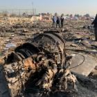 Search and rescue works are conducted at site after a Boeing 737 plane belonging to a Ukrainian...