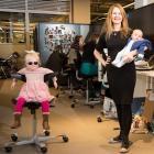 Koru Kids chief executive Rachel Carrell with children Naomi Easton Carrell (now 5) and Alexander...
