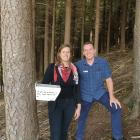 Skyline Queenstown marketing manager Goedele Van Cauteren and general manager Wayne Rose with one...